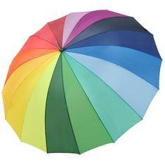 Doppler Damski mehanski, zložljiv dežnik Hit Golf (Rainbow) 71530R