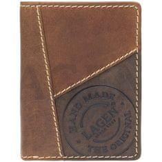 Lagen Moška usnjena denarnica 51145 TAN