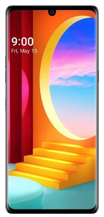 LG Velvet pametni telefon, črn, OLED