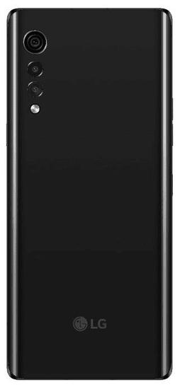 LG Velvet, črn