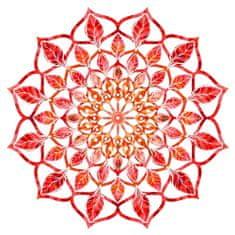 AMADEA Dřevěná dekorace mandala červená 20 cm