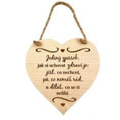 AMADEA Dřevěné srdce s textem Jediný způsob... , masivní dřevo, 16 x 15 cm