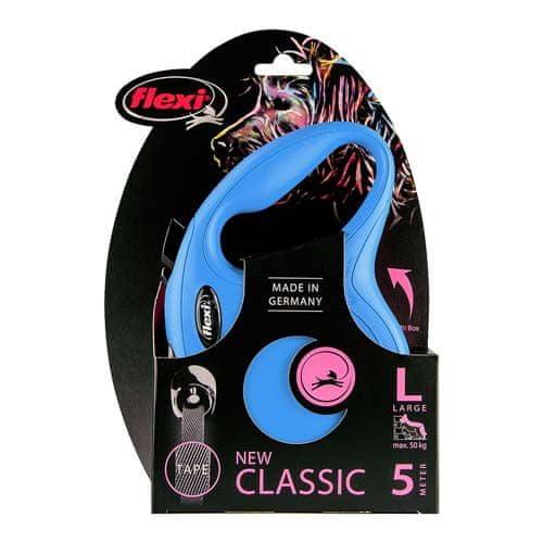 Flexi New Classic szalag L 5m kék 50kg-ig