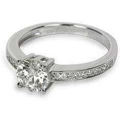 Silver Cat Srebra pierścień z kryształami SC031 (obwód 56 mm) srebro 925/1000