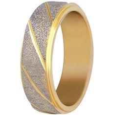 Troli Jekleni poročni prstan dvobarven / svetleč (Obseg 59 mm)