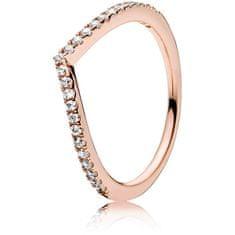 Pandora Bronzový prsten s kamínky 186316CZ (Obvod 50 mm)