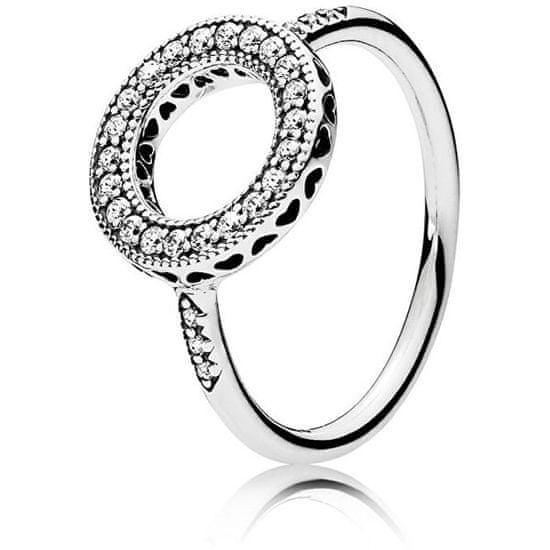 Pandora Stříbrný třpytivý prsten 191039CZ stříbro 925/1000