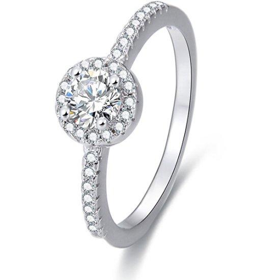 Beneto Srebrni prstan s kristali AGG194 srebro 925/1000