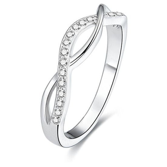Beneto Stříbrný prsten s krystaly AGG190 stříbro 925/1000