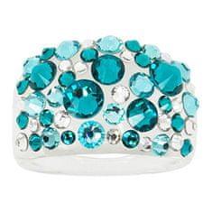 Troli Bubble Blue Zircon gyűrű (Kerület 56 mm)