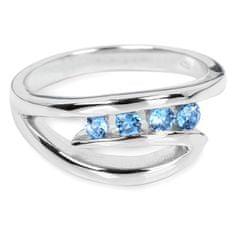 Silver Cat Stříbrný prsten s modrými krystaly SC136 (Obvod 60 mm) stříbro 925/1000