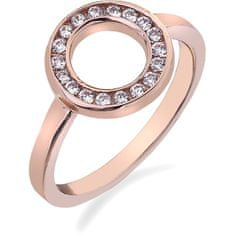 Hot Diamonds Prsten Emozioni Saturno Rose Gold ER002 (Obvod 51 mm) stříbro 925/1000