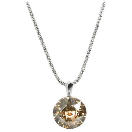 Troli Strieborný náhrdelník Dentelle 13 mm Crystal Golden Shadow (retiazka, prívesok) striebro 925/1000