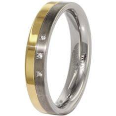 Boccia Titanium Poročni prstan iz titana z diamanti 0129-04 (Obseg 52 mm)