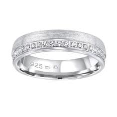 Silvego Poročni srebrni prstan Paradise za ženske QRGN23W (Obseg 60 mm) srebro 925/1000