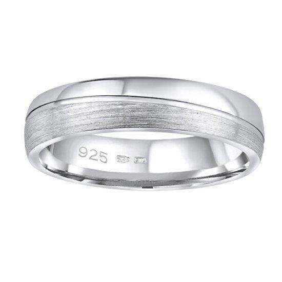 Silvego Poročni srebrni prstan Glamis za moške in ženske QRD8453M srebro 925/1000