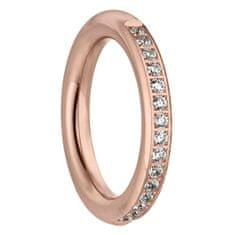 Tamaris Růžově zlacený prsten Emily se zirkony TJ172 (Obvod 60 mm)