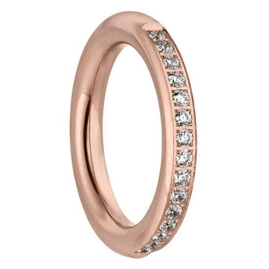 Tamaris Růžově zlacený prsten Emily se zirkony TJ172