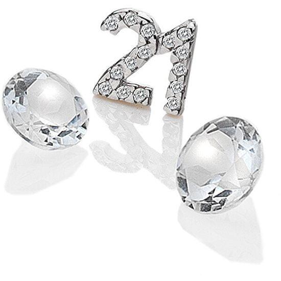 """Hot Diamonds Element """"21"""" z cyrkonem i topaz EX210 srebro 925/1000"""