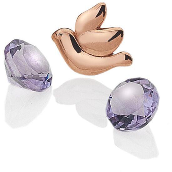 Hot Diamonds Element Dove z ametisti Anais EX103 srebro 925/1000