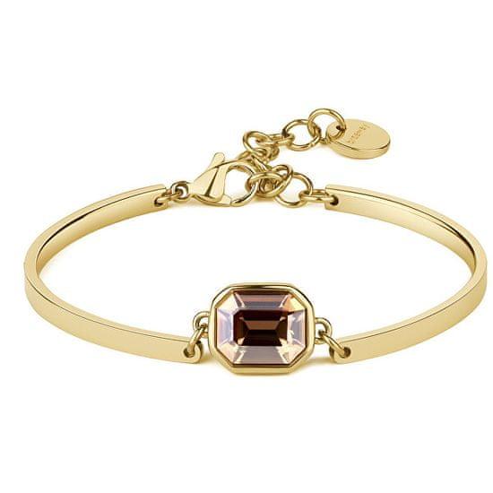 Brosway Złota bransoletka stalowa Kryształ Chakra BHK76
