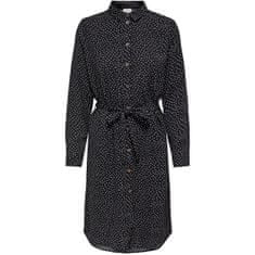 Jacqueline de Yong Női ruha JDYPINEY 15212115 Black WHITE DOTS (Méret 34)