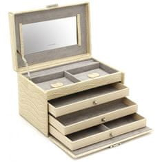 Friedrich Lederwaren Škatla za nakit bež / siva Jolie 23254-30