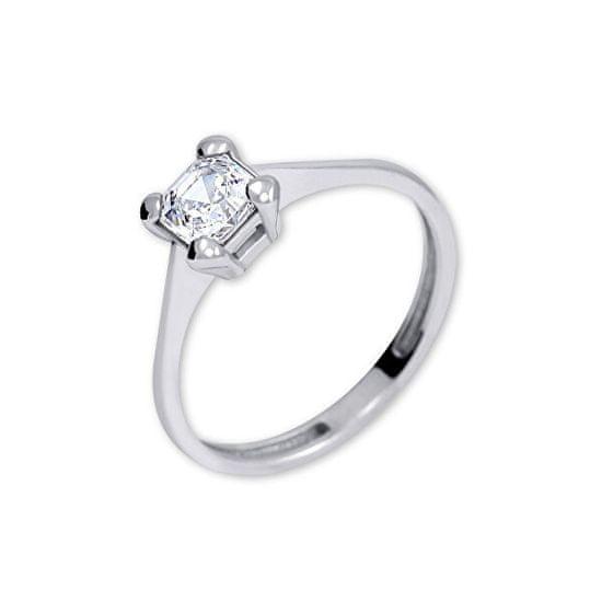 Brilio Silver Srebrni zaročni prstan s kristalom 426 001 00427 04 srebro 925/1000