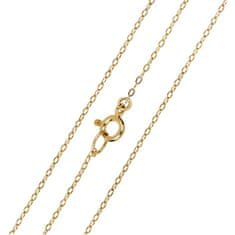 Brilio Elegantna zlata veriga Anker 42 cm 271 115 00272 rumeno zlato 585/1000