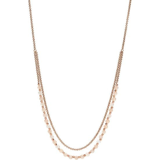 Fossil Bronzový náhrdelník s korálky JA6918791