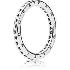 Pandora Stříbrný prsten se srdíčky 197133 (Obvod 50 mm) stříbro 925/1000