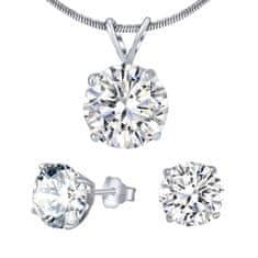 Silvego Stříbrný set šperků s čirým křišťálem JJJS5RC1 (náušnice, přívěsek) stříbro 925/1000