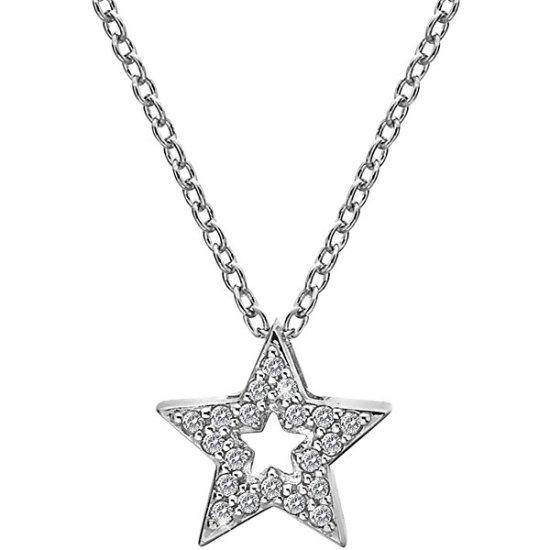 Hot Diamonds Srebrny naszyjnik z gwiazdką Micro Bliss DP697 srebro 925/1000