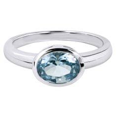Silver Cat Něžný prsten s modrým krystalem SC261 (Obvod 56 mm) stříbro 925/1000