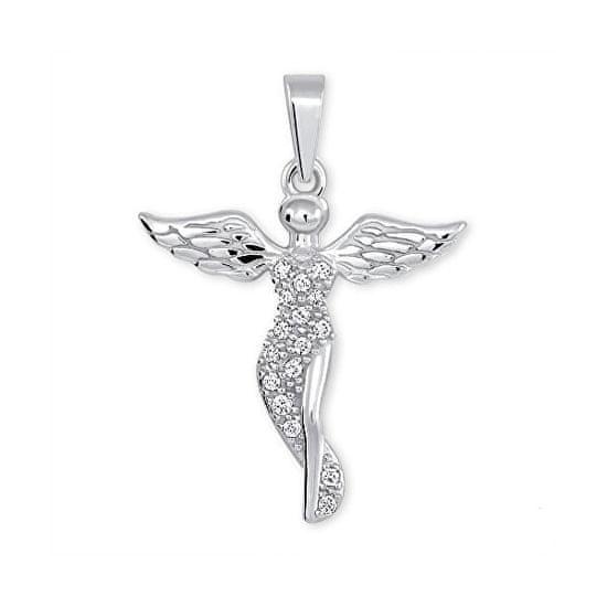 Brilio Silver Srebrni obesek Angel s kristali 446 001 00379 04 srebro 925/1000