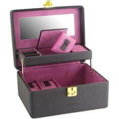 Friedrich Lederwaren Škatla za nakit rjava / vijolična Ascot 20124-3