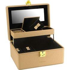 Friedrich Lederwaren Škatla za nakit bež / črna Ascot 20124-8