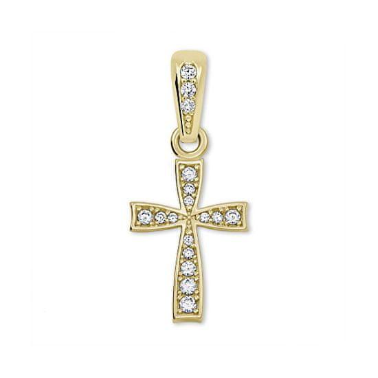 Brilio Lep obesek križ iz rumenega zlata 249 001 00570 rumeno zlato 585/1000