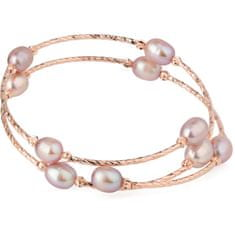 JwL Luxury Pearls Bronasta zapestnica s pravimi biseri JL0494