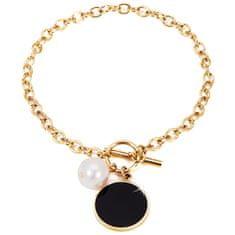 JwL Luxury Pearls Stal bransoletka z odpowiednią perłą JL0482CH