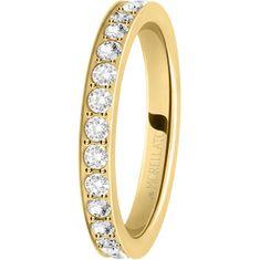 Morellato Pozlacený prsten s krystaly Love Rings SNA39 (Obvod 52 mm)
