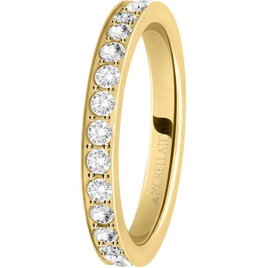 Morellato Pozlátený prsteň s kryštálmi Love Rings SNA39