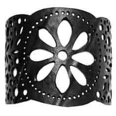 ARTcycleBALI Bransoletka z kwiatem paproci na boku BR_029 (długość 15,5 cm)