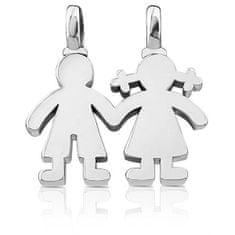 Tous Srebrny wisiorek Chłopczyk i dziewczynka 115904500