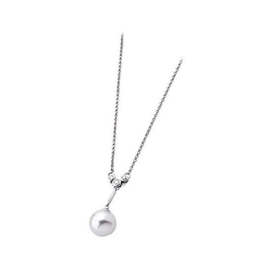 Majorica Stříbrný náhrdelník s perlou a kamínky 12859.01.2.000.010.1 stříbro 925/1000