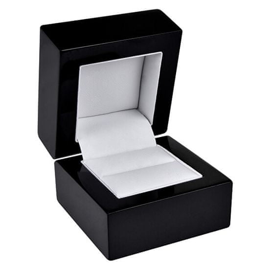 Jan KOS Črna lesena škatla za prstan BB-2 / A25