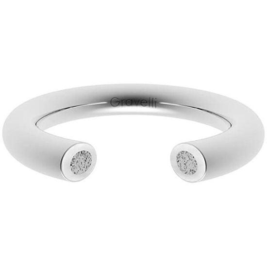 Gravelli Otevřený prsten s betonem Open ocelová/šedá GJRWSSG107