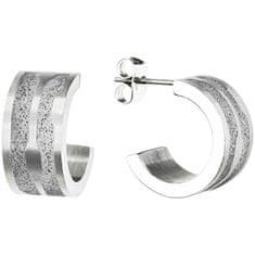 Gravelli Kruhové ocelové náušnice s betonem Split GJEWSSG104UN