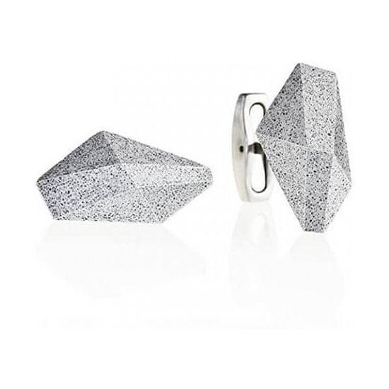 Gravelli Manžetové knoflíčky z oceli a betonu Crystal GJCMNAG005UN