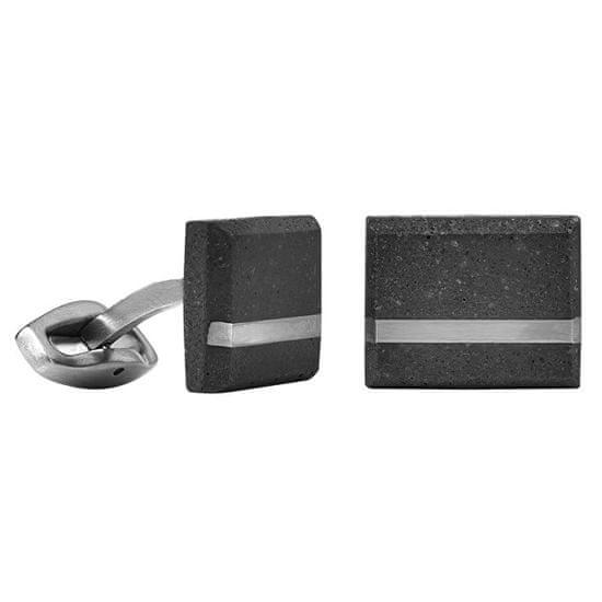 Gravelli Manžetové knoflíčky z betonu a oceli Falcon Steel GJCMSSA004UN